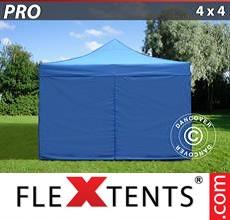 Pop up canopy PRO 4x4 m Blue, incl. 4 sidewalls