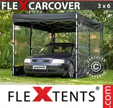 Folding garage FleX Carcover, 3x6 m, Black