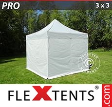 Pop up canopy PRO 3x3 m silver, incl. 4 sidewalls