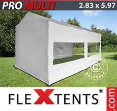 Pop up canopy Multi 2.83x5.87 m White, incl. 6 sidewalls