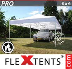 Pop up canopy PRO 3x6 m White, Flame retardant