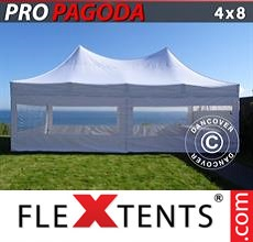 Pop up canopy PRO Peak Pagoda 4x8 m White, incl. 6 sidewalls