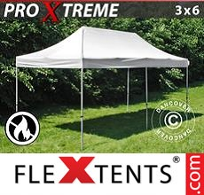 Pop up canopy Xtreme 3x6 m White, Flame retardant