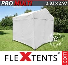 Pop up canopy Multi 2.83x2.97 m White, incl. 4 sidewalls