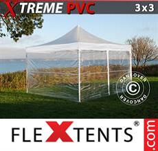 Pop up canopy Xtreme 3x3 m Clear, incl. 4 sidewalls