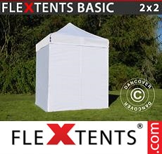 Pop up canopy Basic, 2x2 m White, incl. 4 sidewalls