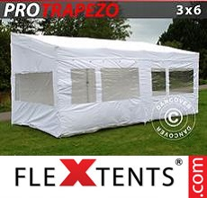 Pop up canopy PRO Trapezo 3x6m White, incl. 4 sidewalls