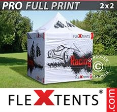 Pop up canopy PRO with full digital print, 2x2 m, incl. 4 sidewalls
