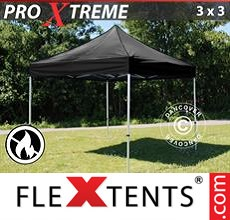 Pop up canopy Xtreme 3x3 m Black, Flame retardant