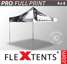 Pop up canopy PRO with full digital print, 4x4 m