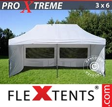 Pop up canopy Xtreme 3x6 m White, incl. 6 sidewalls