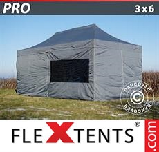 Pop up canopy PRO 3x6 m Grey, incl. 6 sidewalls