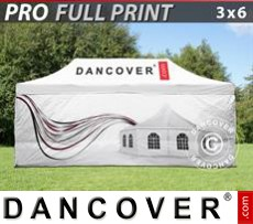 Pop up gazebo FleXtents PRO with full digital print, 3x6 m, incl. 4 sidewalls