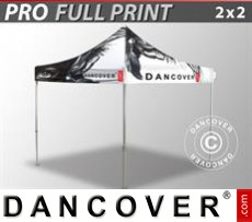 Pop up gazebo FleXtents PRO with full digital print, 2x2 m