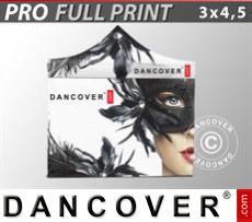 Pop up gazebo FleXtents PRO with full digital print, 3x4.5 m, incl. 4 sidewalls