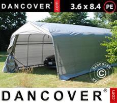 Portable Garage PRO 3.6x8.4x2.7 m PE, Grey