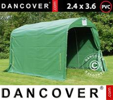 Portable Garage PRO 2.4x3.6x2.34 m PVC, Green