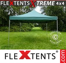 Racing tent FleXtents Xtreme 4x4 m Green