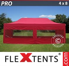 Racing tent PRO 4x8 m Red, incl. 6 sidewalls