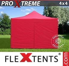 Racing tent Xtreme 4x4 m Red, incl. 4 sidewalls