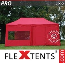 Racing tent PRO 3x6 m Red, incl. 6 sidewalls