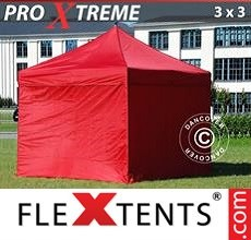 Racing tent Xtreme 3x3 m Red, incl. 4 sidewalls