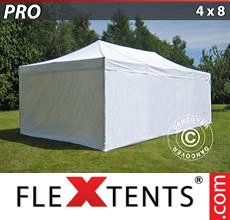 Racing tent PRO 4x8 m White, incl. 6 sidewalls