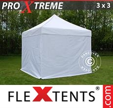Racing tent Xtreme 3x3 m White, incl. 4 sidewalls