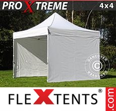 Racing tent Xtreme 4x4 m White, incl. 4 sidewalls
