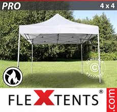 Racing tent PRO 4x4 m White, Flame retardant