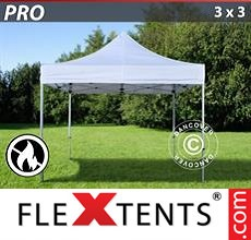 Racing tent PRO 3x3 m White, Flame retardant