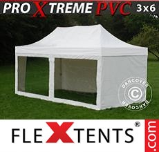Racing tent Xtreme Heavy Duty 3x6 m White, incl. 6 sidewalls