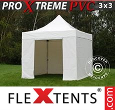 Racing tent Xtreme Heavy Duty 3x3 m White, Incl. 4 sidewalls