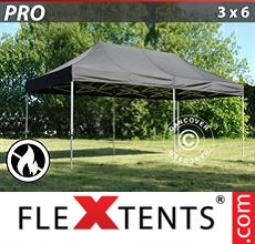 Racing tent PRO 3x6 m Black, Flame retardant