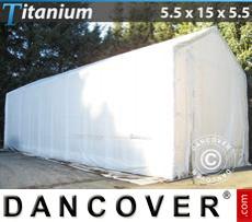 Shelter Titanium 5.5x15x4x5.5 m, White