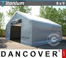 Shelter Titanium 8x9x3x5 m, White / Grey
