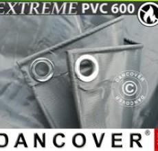Tarpaulin 5x7 m PVC 600 g/m² Grey, Flame retardant