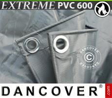 Tarpaulin 8x10 m PVC 600 g/m² Grey, Flame retardant