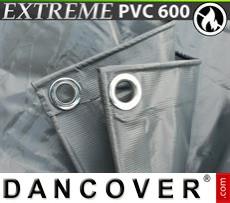 Tarpaulin 6x12 m PVC 600 g/m² Grey, Flame retardant