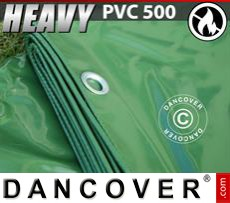 Tarpaulin 6x12 m PVC 500 g/m² Green, Flame retardant