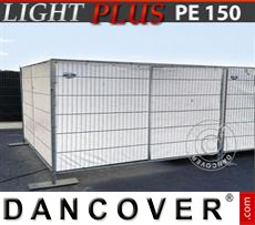 Fence tarpaulin 1,76x3,41 m PE 150 g/m² White