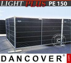 Fence tarpaulin 1,76x3,41 m PE 150 g/m² Black