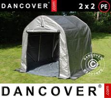 Tents PRO 2x2x2 m PE, with ground cover, Grey