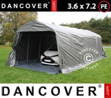 Tents PRO 3.6x7.2x2.68 m PE, with ground cover, Grey