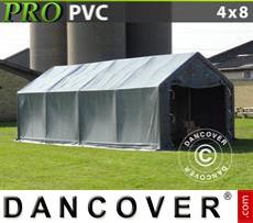 Tents PRO 4x8x2x3.1 m, PVC, Grey