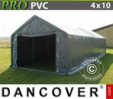 Tents PRO 4x10x2x3.1 m, PVC, Grey