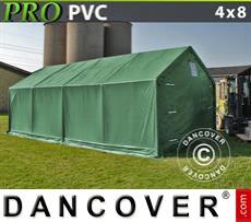 Tents PRO 4x8x2x3.1 m, PVC, Green