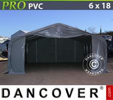 Tents PRO 6x18x3.7m PVC, Grey