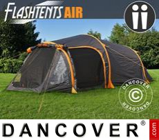 Camping tents FlashTents® Air, 2 persons, Orange/Dark Grey