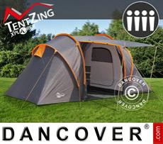 Camping tents,  TentZing® Xplorer family, 4 persons, Orange/Dark Grey